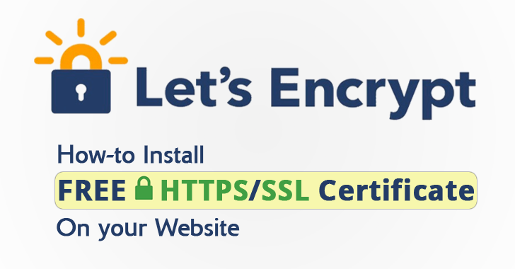 How to install free ssl let's encrypt