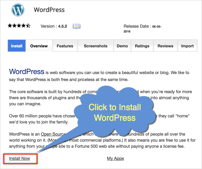 install wordpress cpanel
