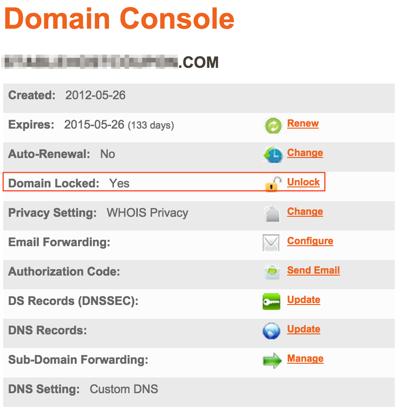 Unlock Domain