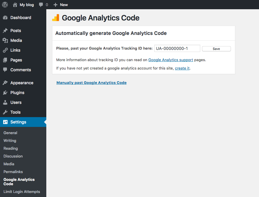 add analytics to wordpress
