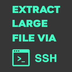 extract large file via ssh