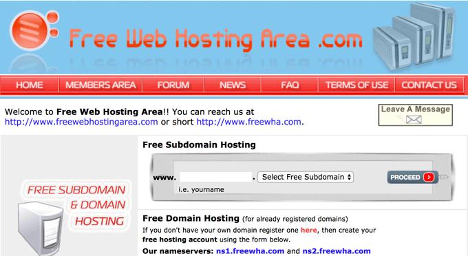 FreeHostingArea