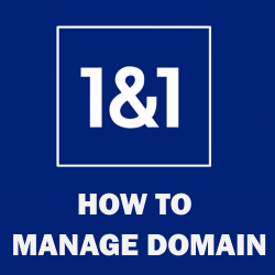 how to manage domain name at 1and1