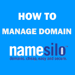 How to manage domain at NameSilo