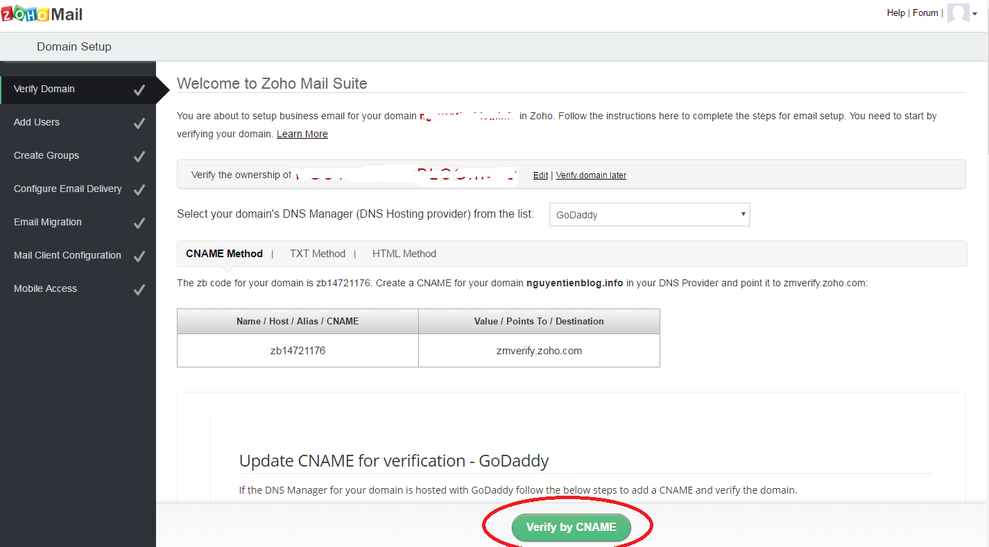 zoho verify cname2